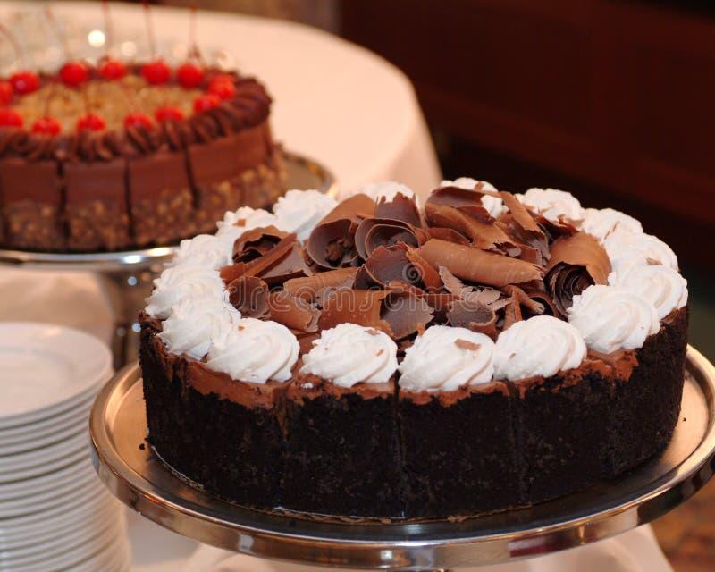 Torte del cioccolato fotografia stock libera da diritti