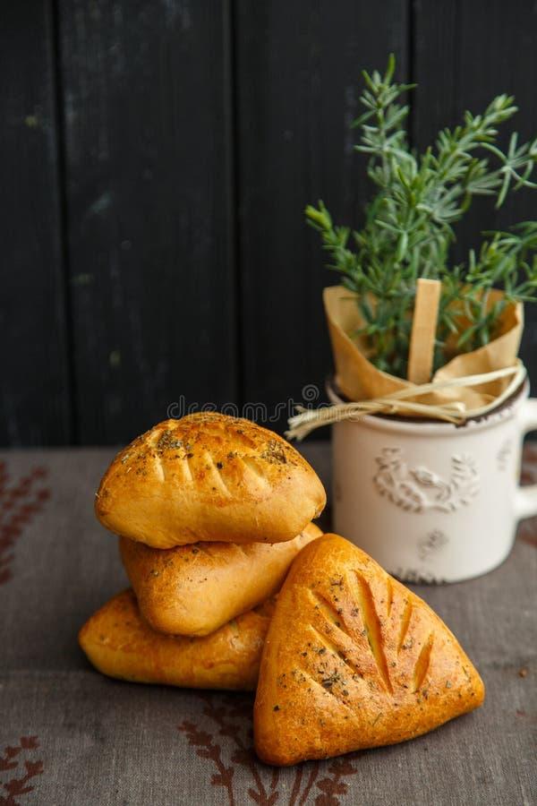 Torte della Provenza, prima colazione deliziosa e pasticcerie fragranti fotografia stock libera da diritti