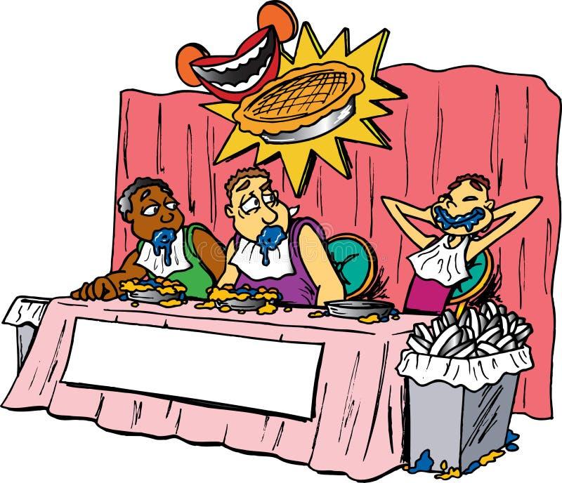 Torte-Essenwettbewerb lizenzfreie abbildung