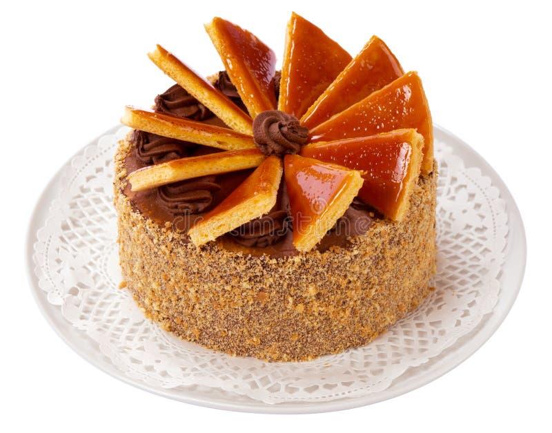 Torte húngaro de Dobos - bolo imagem de stock royalty free