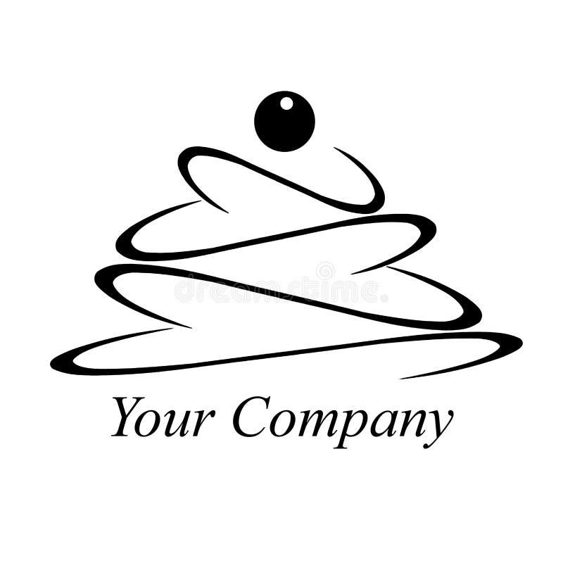 Torte, Kuchen, Logo, Element des Designs des Cafés stock abbildung
