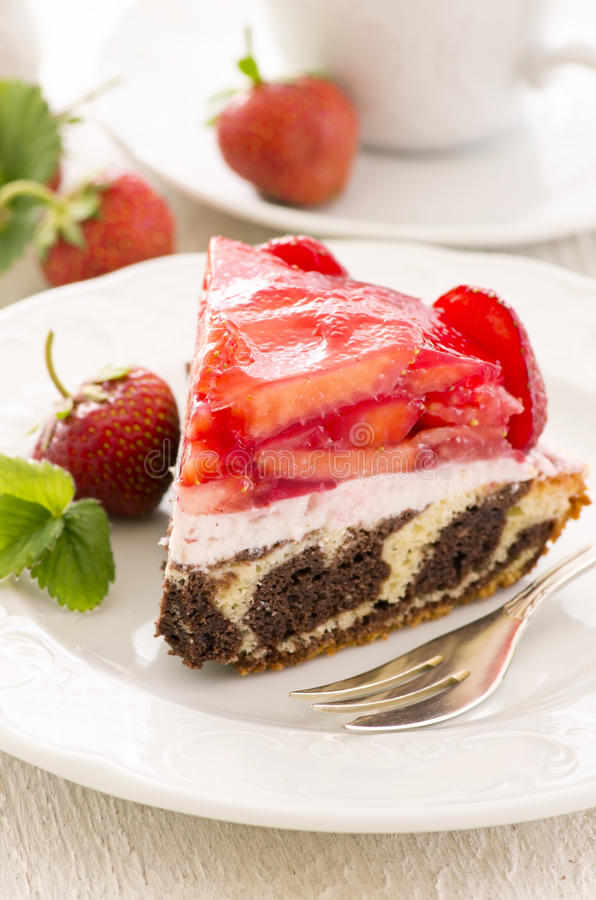 Torte with Strawberry royalty free stock images
