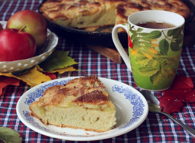 Torte von Äpfeln charlotte stockbilder