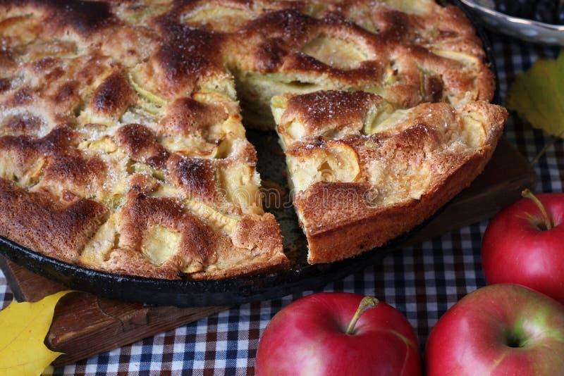 Torte von Äpfeln charlotte Nahrungsmittelnoch Leben stockbild