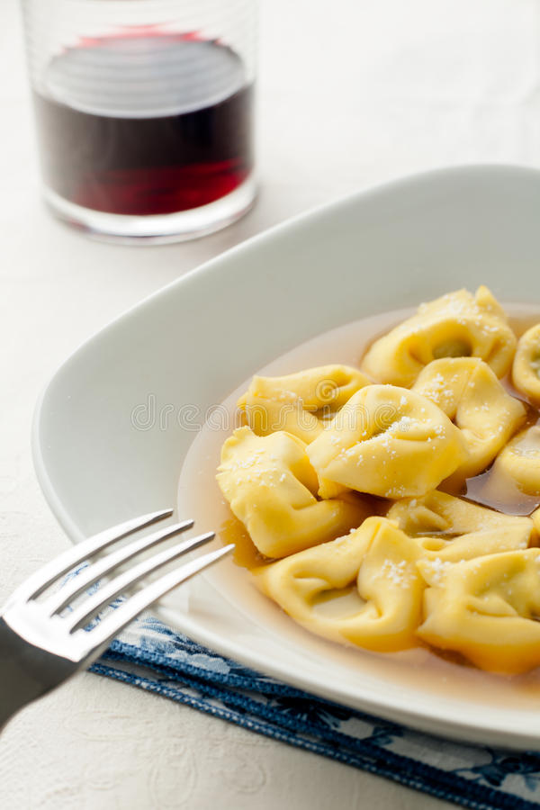 Tortellini In Broth Royalty Free Stock Image