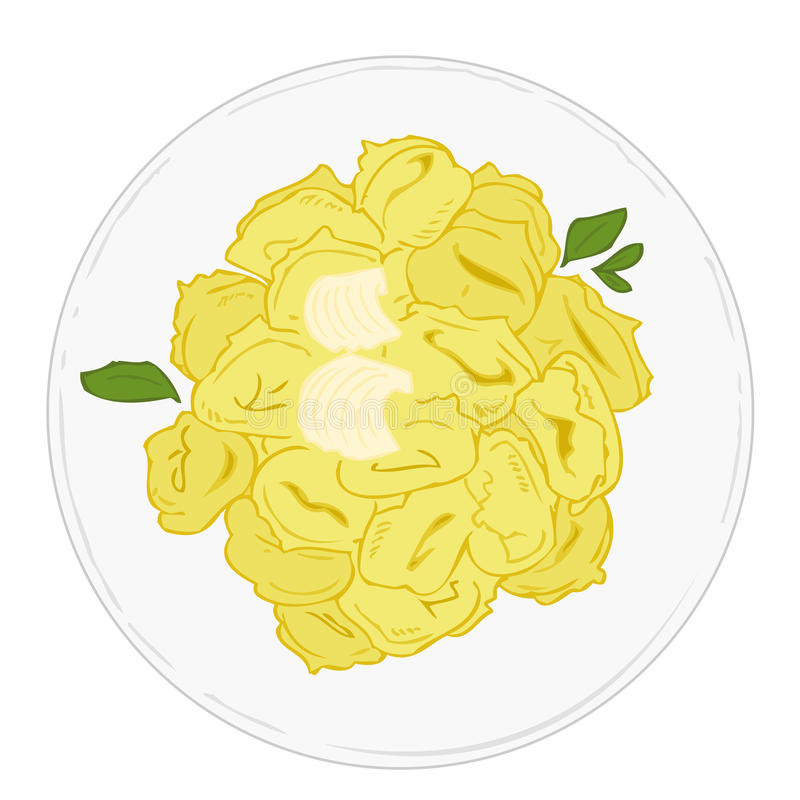 Download Tortellini With Butter And Sage. Stock Vector - Image: 13956825