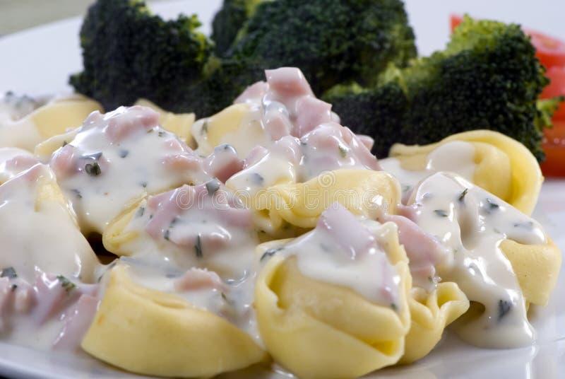 Download Tortellini With Cream Sauce Stock Image - Image: 4192951