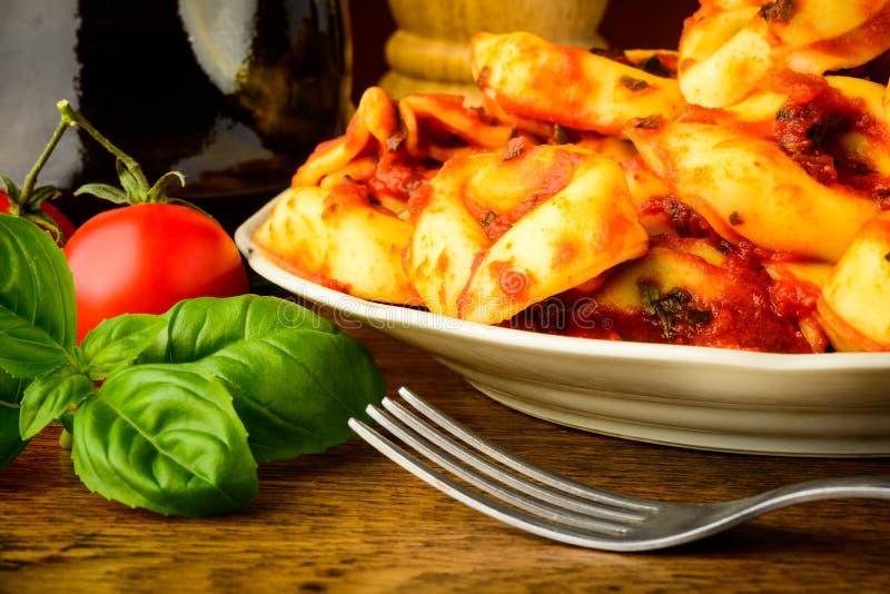 Tortellini pasta closeup royalty free stock images