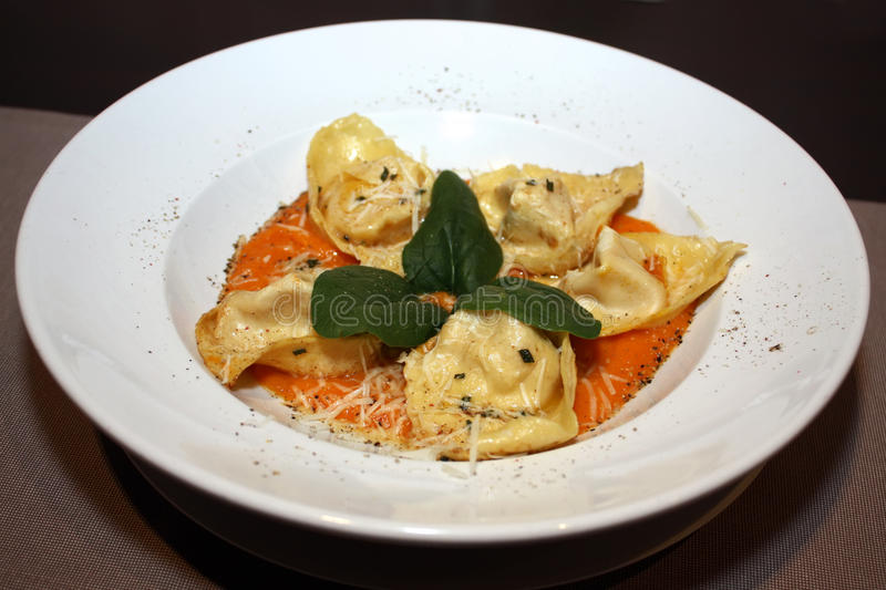 Tortelloni With Parmesan Royalty Free Stock Photo