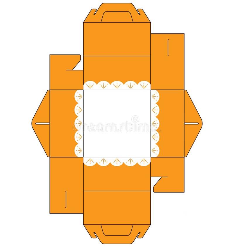 Tortenschachtel-Quadrat lizenzfreie abbildung