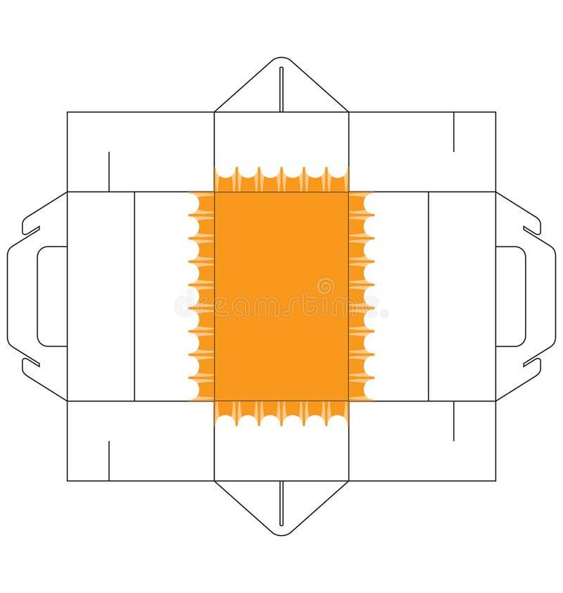 Tortenschachtel rechteckig stock abbildung