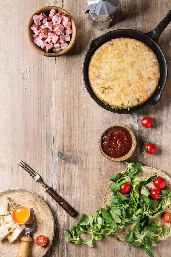 Tortiglia della patata con bacon fotografia stock libera da diritti