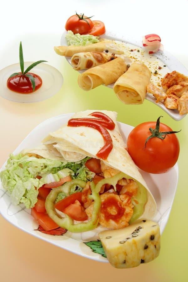 Tortiglii e omelete messicani immagini stock libere da diritti