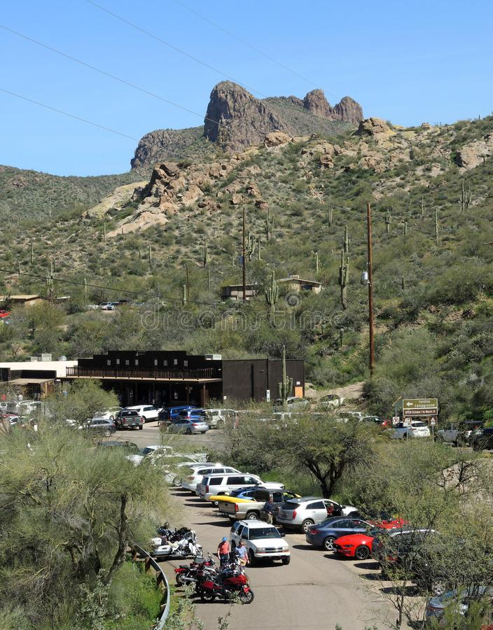Tortilla επίπεδα μια μικρή στάση στο ίχνος Apache στην Αριζόνα στοκ φωτογραφίες με δικαίωμα ελεύθερης χρήσης