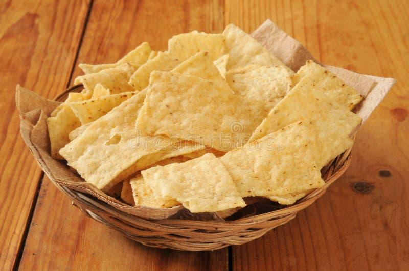 Tortilla καλαμποκιού τσιπ στοκ φωτογραφίες με δικαίωμα ελεύθερης χρήσης