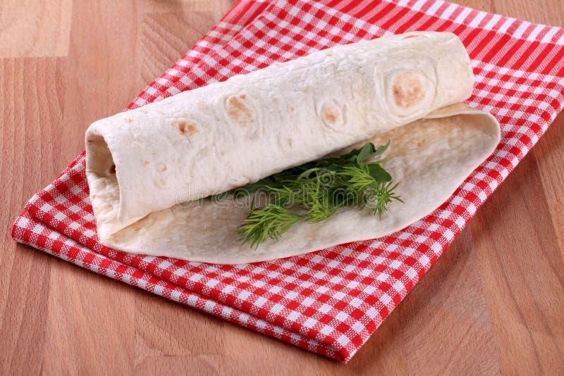 tortilla περικάλυμμα στοκ εικόνα με δικαίωμα ελεύθερης χρήσης