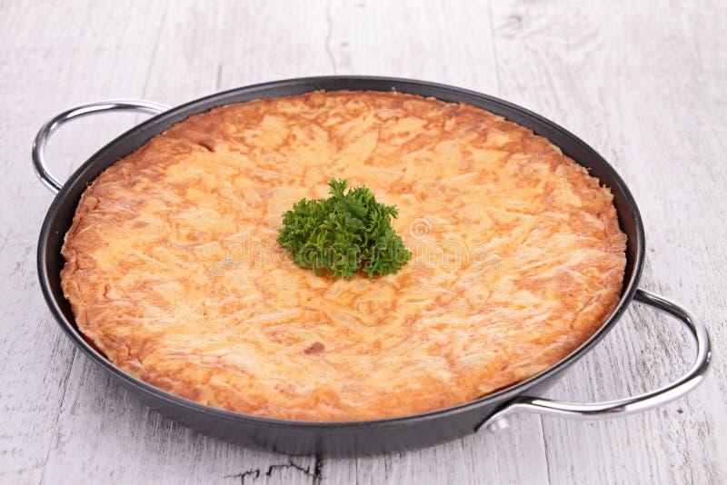 Tortilla avec la pomme de terre images libres de droits