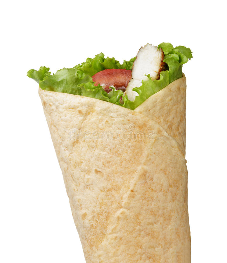 Fast Food Chicken Tortilla Wrap