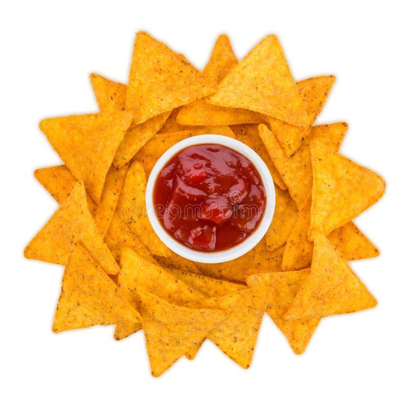 Tortilla-Chip-Sonne lizenzfreie stockbilder