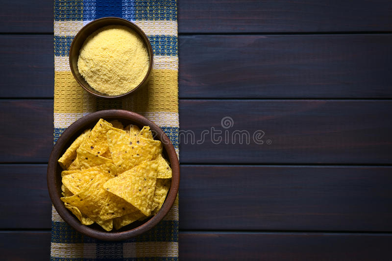 Tortilla Chips and Cornmeal stock images
