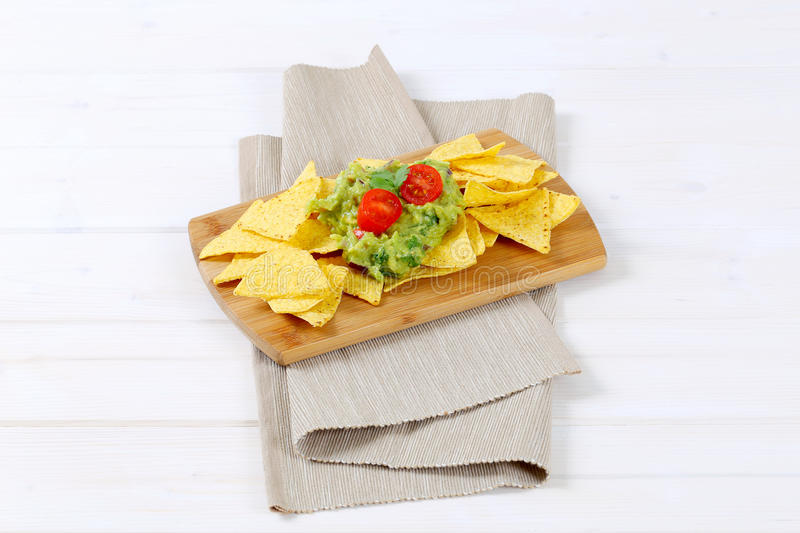 Download Tortilla Chips With Guacamole Stock Photo - Image: 83708552