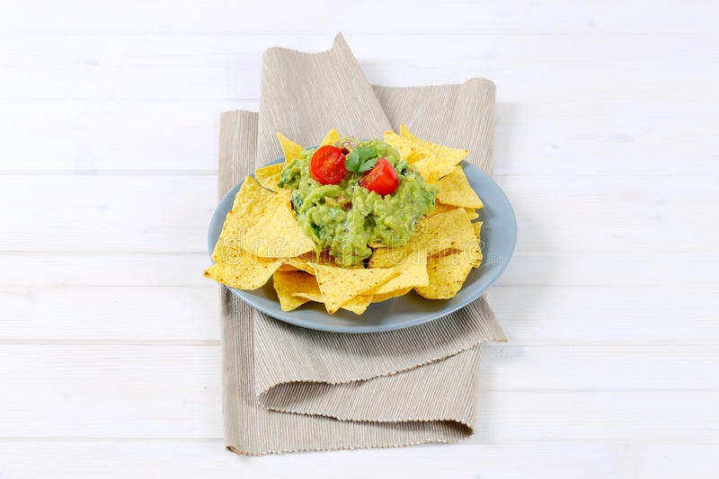 Download Tortilla Chips With Guacamole Stock Photo - Image: 83708694