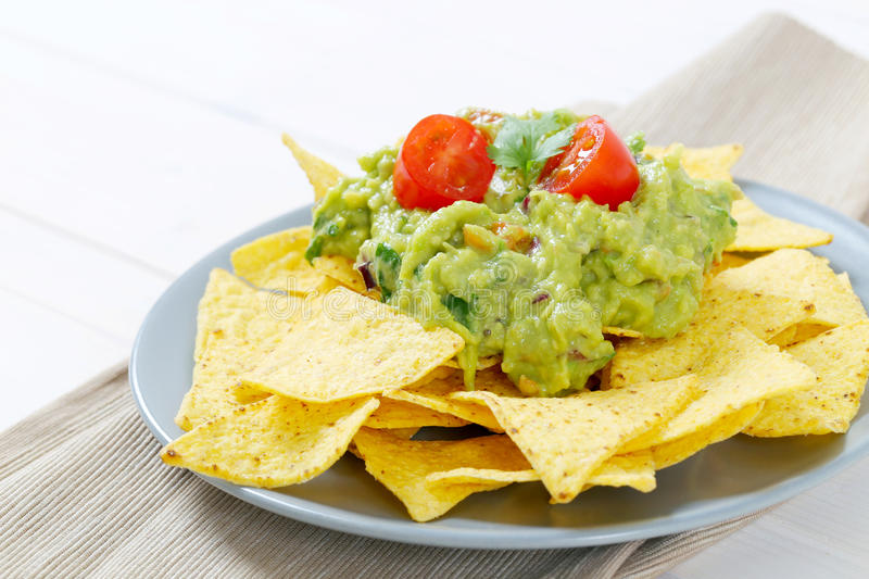 Download Tortilla Chips With Guacamole Stock Photo - Image: 83708184