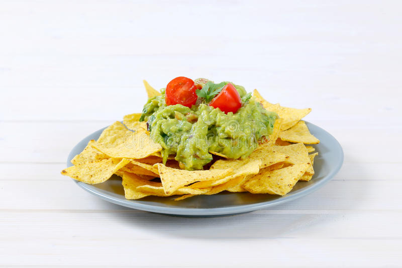 Download Tortilla Chips With Guacamole Stock Photo - Image: 83708049