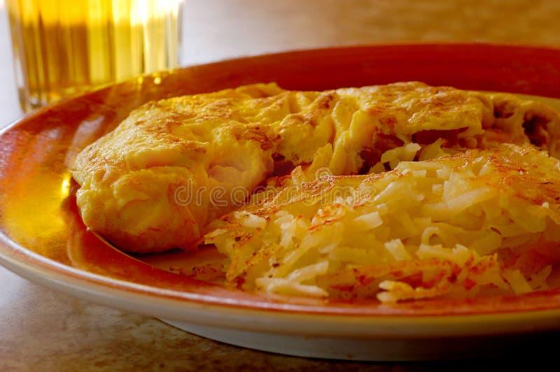 Tortilla de huevos fotografía de archivo