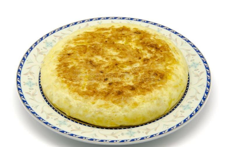Tortilla de huevos española de la patata imagen de archivo