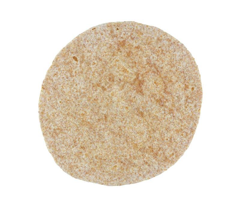 Tortilla de la farine de sarrasin - d'isolement photographie stock