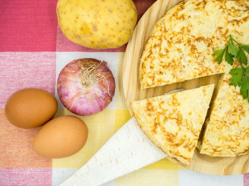 tortilla de patatas стоковое изображение