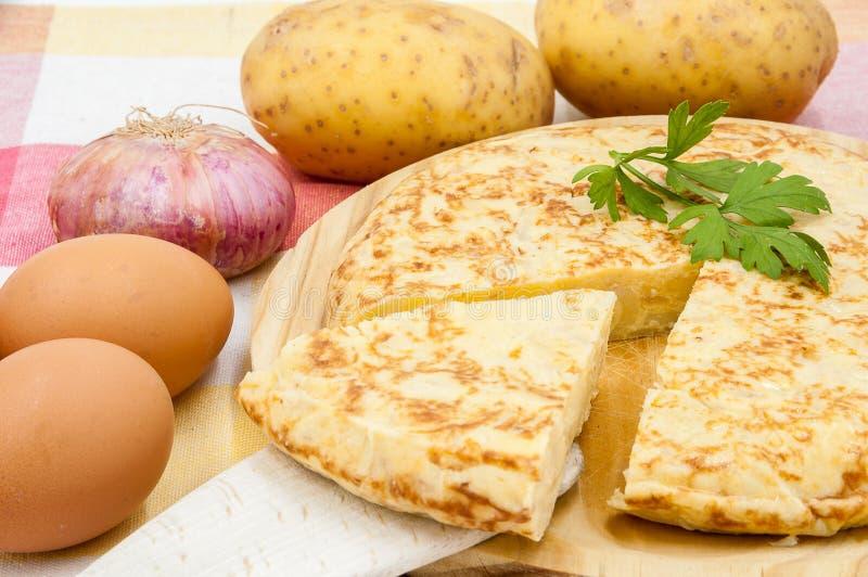 Tortilla de patatas fotos de archivo libres de regalías
