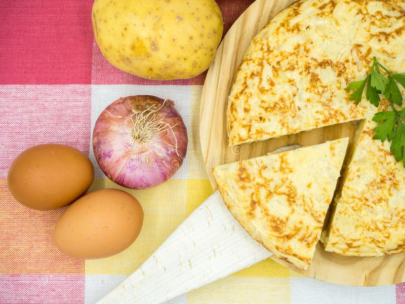 Tortilla de patatas image stock