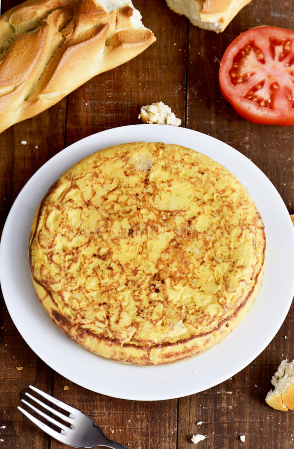 Tortilla de patatas, omelette espagnole image stock
