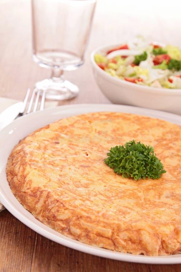 Tortilla de pomme de terre photo stock