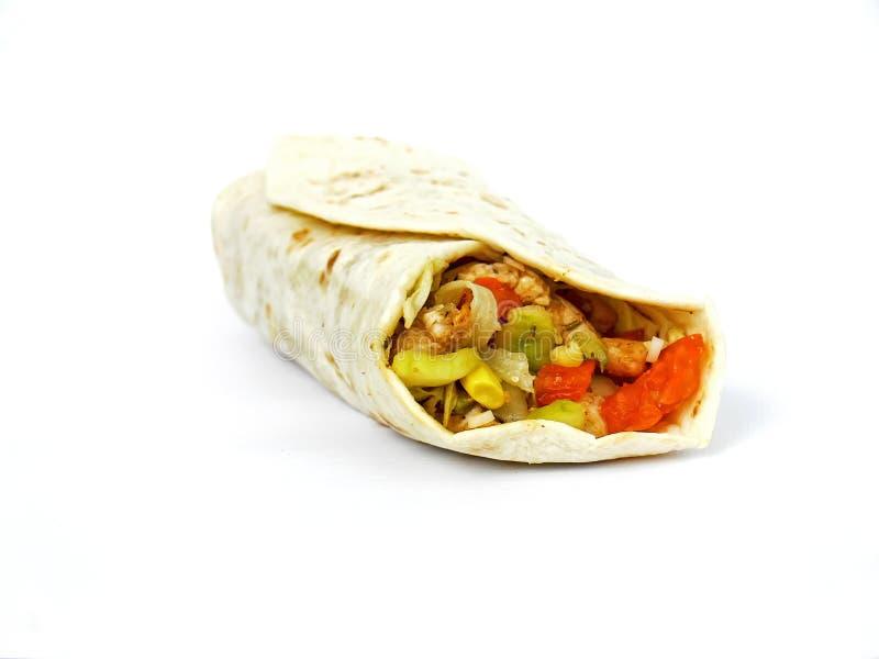 Tortilla envolvido imagens de stock royalty free