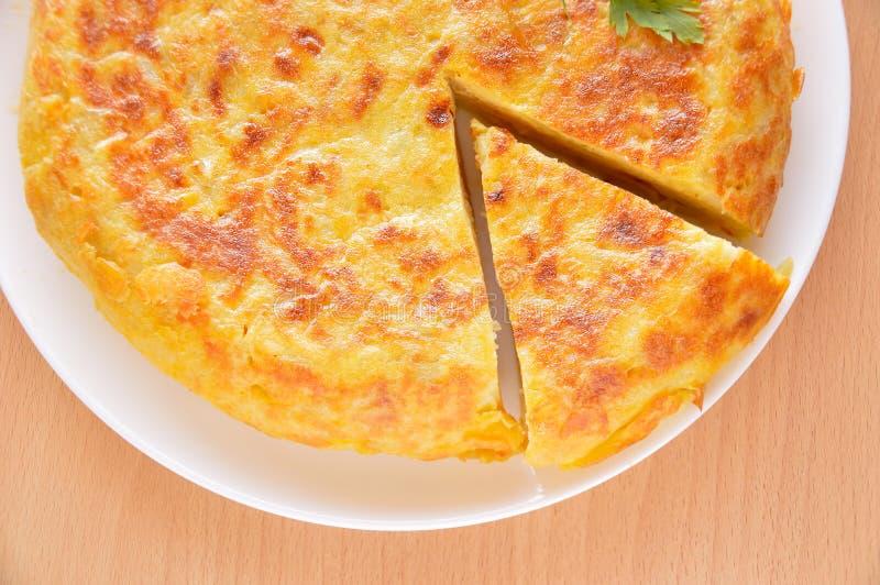 Tortilla española deliciosa fotos de archivo