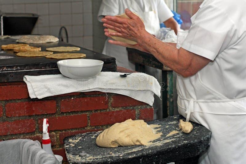 Tortilla maker stock images