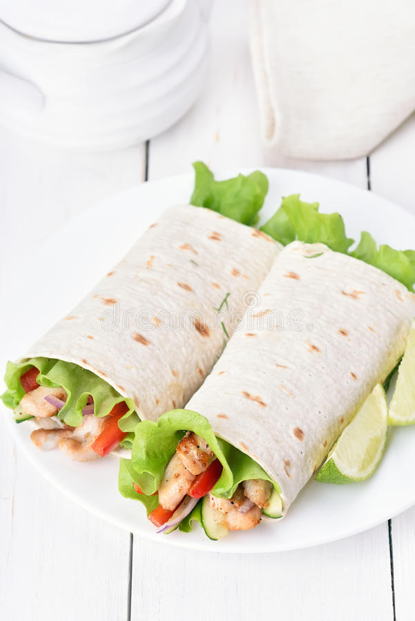 tortilla meksykański opakunek obraz stock