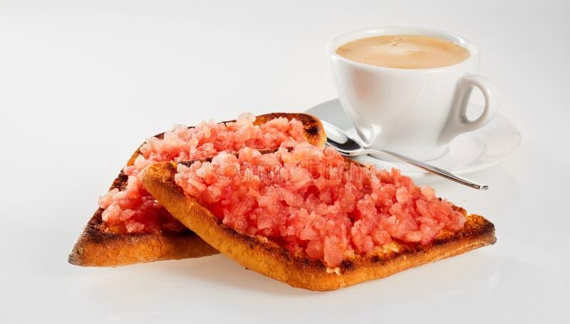 Tortilla o tostrada frita curruscante con salsa foto de archivo libre de regalías