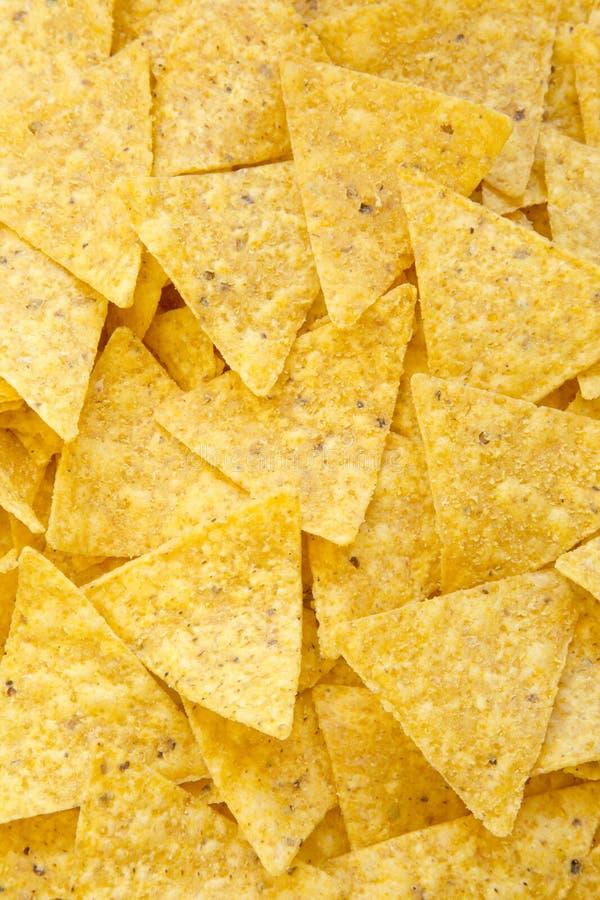 Tortilla układy scaleni, odgórny widok, zbliżenie Meksykański jedzenie zdjęcia royalty free