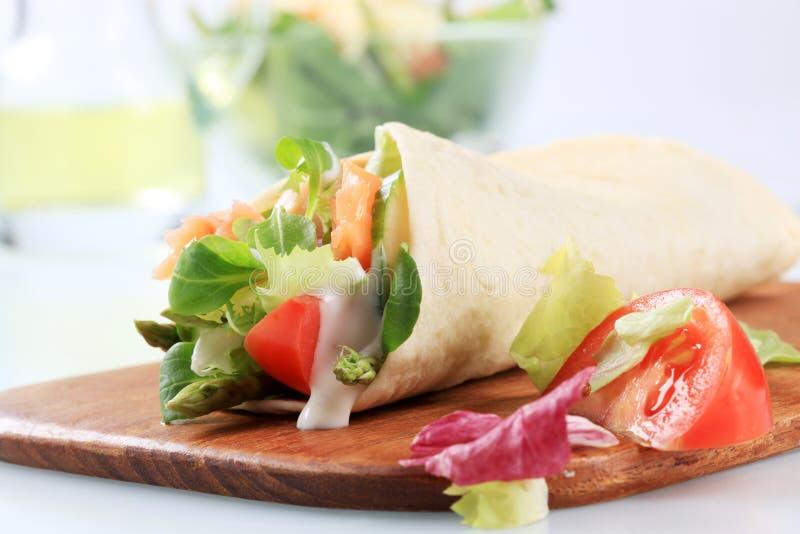 Tortilla wrap stock photography