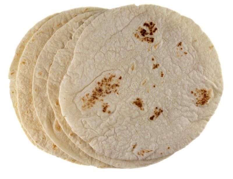 Tortillas da farinha de trigo fotografia de stock