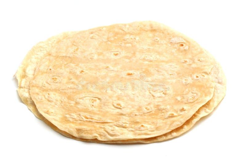 Tortillas in einem Stapel lizenzfreie stockfotografie