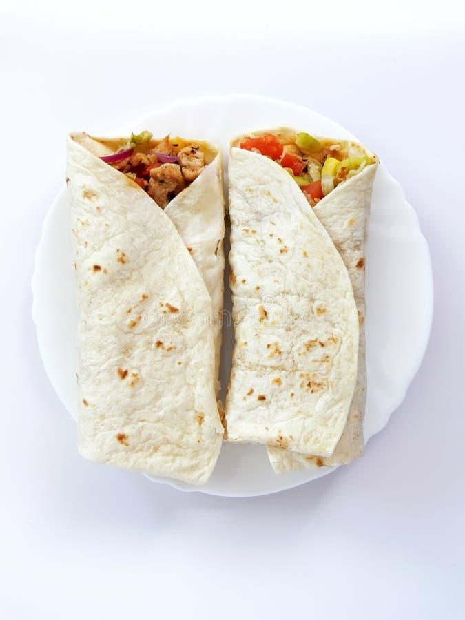 tortillas roulées image libre de droits