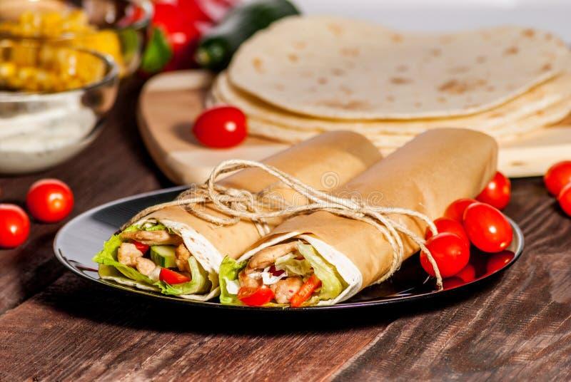 Tortillaverpackung lizenzfreie stockbilder