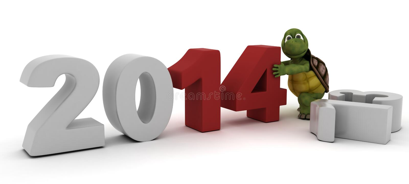 Tortoise Bringing In The New Year Stock Images