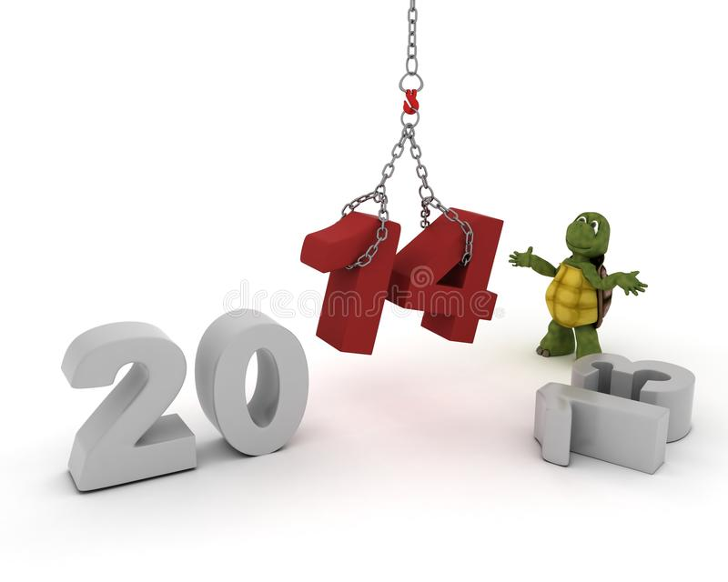 Download Tortoise Bringing In The New Year Stock Illustration - Image: 33982194