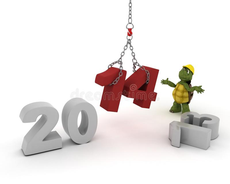 Download Tortoise Bringing In The New Year Stock Illustration - Illustration: 33982205